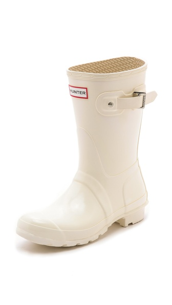 Hunter Boots Original Short Gloss Rain Boots - Enamel at Shopbop / East Dane