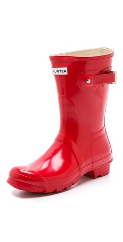 Hunter Boots Original Short Gloss Rain Boots at Shopbop / East Dane