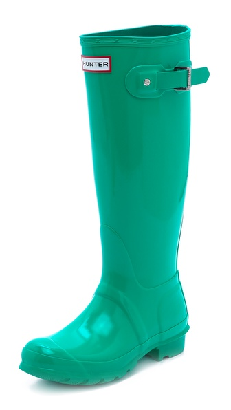Hunter Boots Original Tall Gloss Boots - Jade at Shopbop / East Dane
