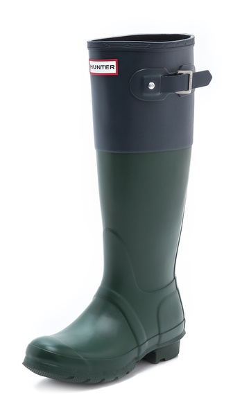 Hunter Boots Original Colorblock Boots - Green at Shopbop / East Dane