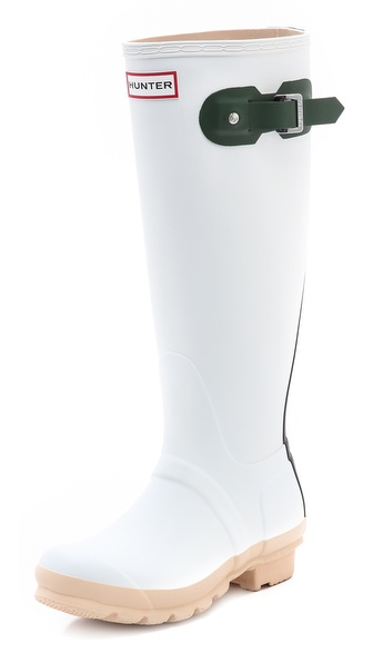 Hunter Boots Original Contrast Boots - White/Green/Black/Biscuit at Shopbop / East Dane