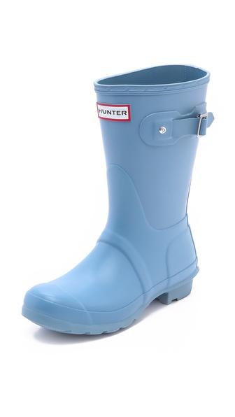 Hunter Boots Original Short Gloss Boots - Blue Lily at Shopbop / East Dane