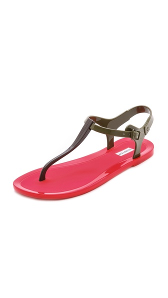 Hunter Boots Original T Strap Sandals - Pillar Box Red at Shopbop / East Dane