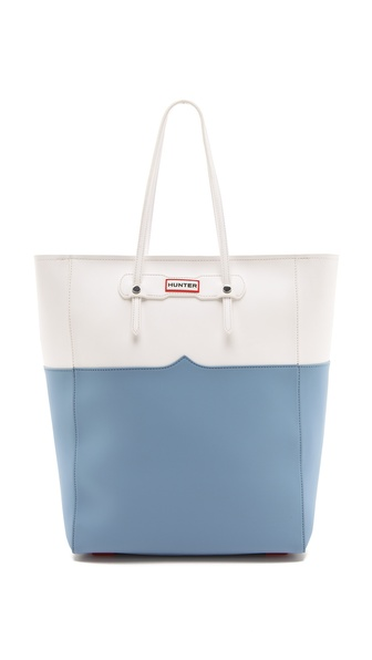 Hunter Boots Original Rc Shopper - White/Blue Lily at Shopbop / East Dane