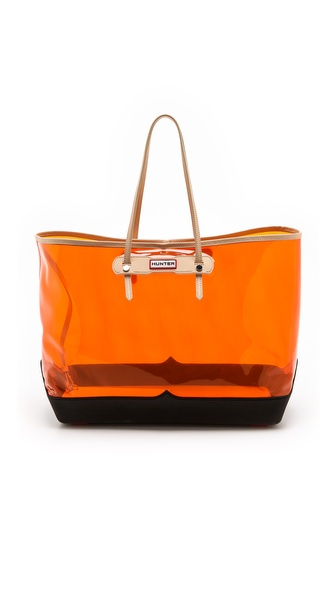 Hunter Boots Original Clear Tote - Clementine/Black at Shopbop / East Dane