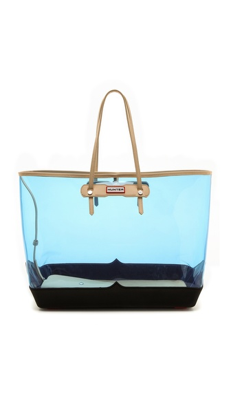 Hunter Boots Original Clear Tote - Blue Lily/Black at Shopbop / East Dane