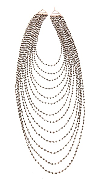 IaM by Ileana Makri Multi Strand Pyrite Necklace