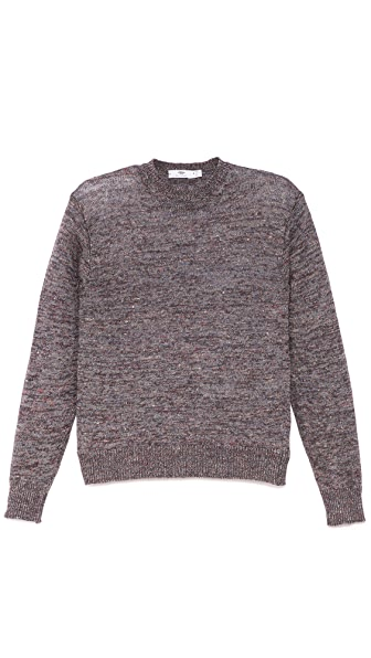 Inis Meain Washed Linen Crew Sweater