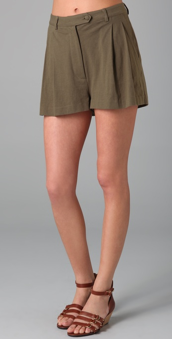 Imitation Pleated Shorts
