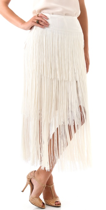Imitation Gifford Fringe Skirt