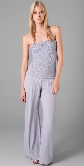 Indah Smocked Bodice Jumpsuit / Pants