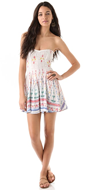 Indah Wren Smocked Strapless Dress