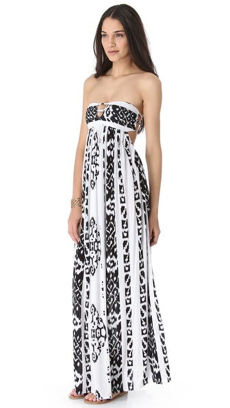 Indah Flamingo Maxi Dress