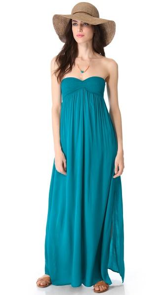Indah Zanzi Strapless Maxi Dress