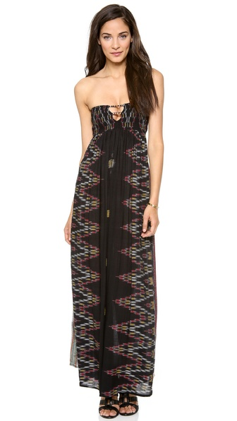 Indah Flamingo Bandeau Maxi Dress