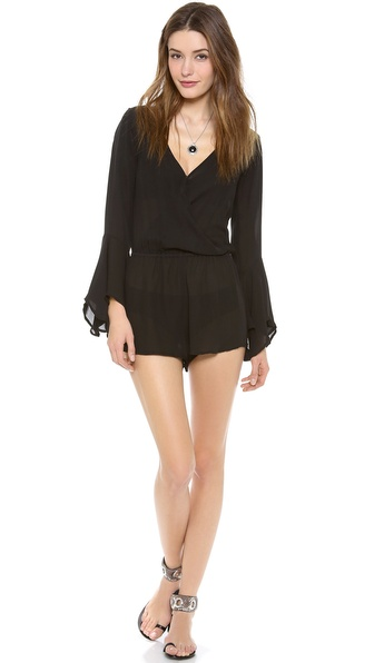 Indah Bell Sleeve Evening Romper