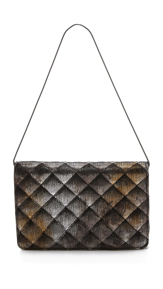 Inge Christopher Quilted Leather Clutch