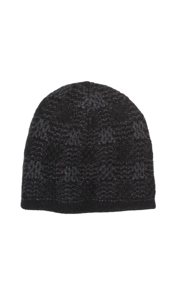 Inhabit Cashmere Checkerboard Reversible Hat