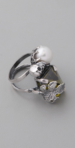 Iosselliani Baroque Pearl and Stone Ring