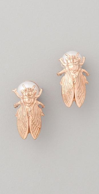 Iosselliani Baroque Pearl Fly Studs