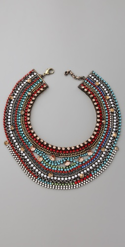 Iosselliani Crystal & Stone Collar Necklace