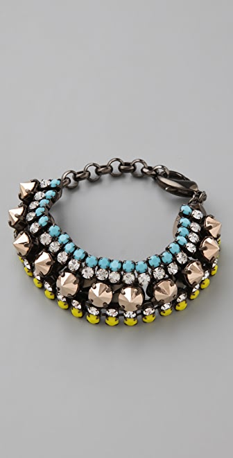 Iosselliani Multi Layer Crystal Bracelet
