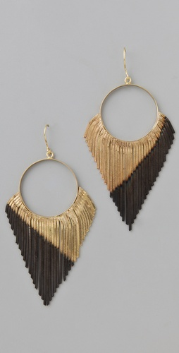 Iosselliani Shaded Fringe Hoop Earrings