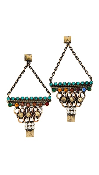 Iosselliani Triangle Chain Earrings