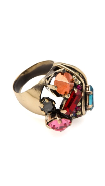 Iosselliani Multi Crystal Ring