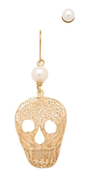 Iosselliani Skull Earrings