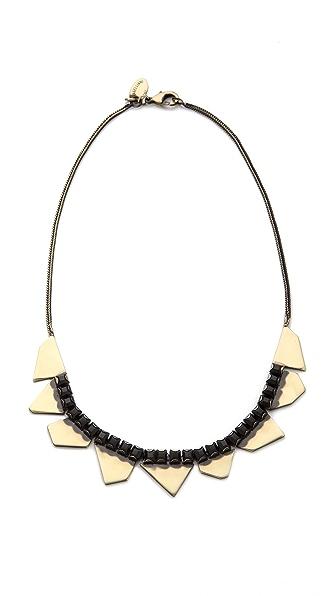 Iosselliani Delicate Rhinestone Bib Necklace