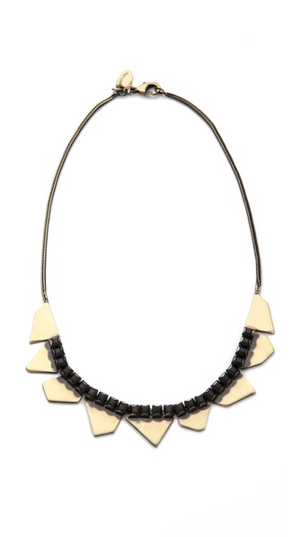 Iosselliani Delicate Rhinestone Bib Necklace