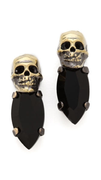 Iosselliani Fused Stone Skull Studs