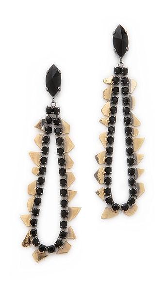 Iosselliani Crystal Teardrop Earrings