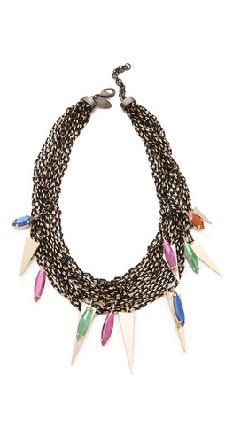 Shop Iosselliani Multi Wires Necklace with Fused Stones and Iosselliani online - Accessories,Womens,Jewelry,Necklace, online Store
