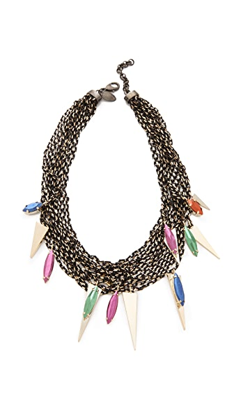 Iosselliani Multi Wires Necklace with Fused Stones
