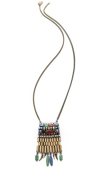 Iosselliani Fused Stone & Agate Pendant Necklace
