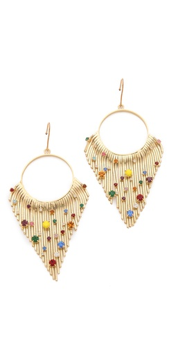 Iosselliani Crystal Encrusted Fringe Earrings