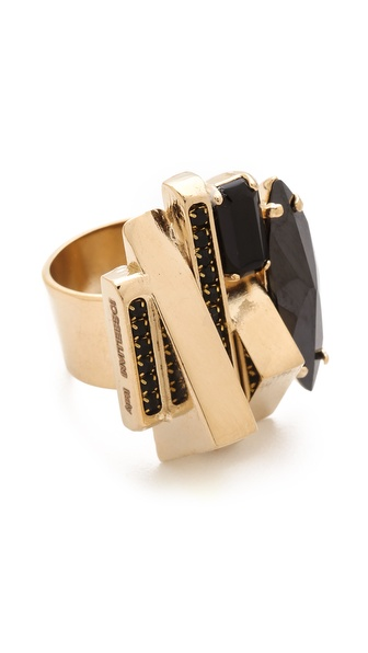 Iosselliani Brass Deco Ring