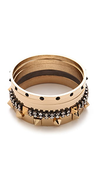 Iosselliani 5 Brass Bangle Set