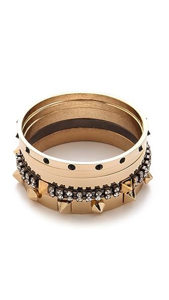 Iosselliani 5 Brass Bangle Set