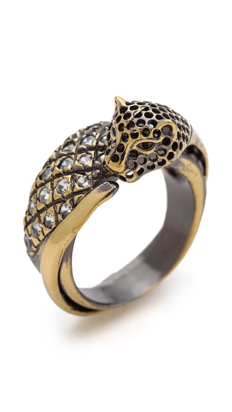 Iosselliani Crystal Brass Ring