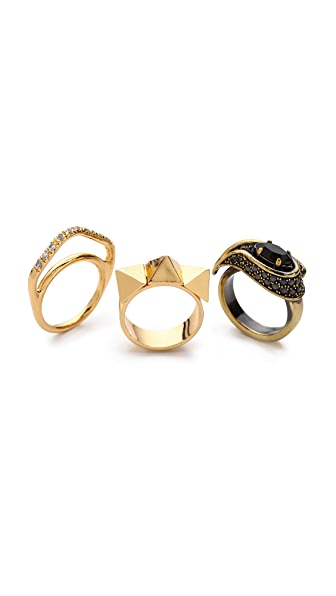 Iosselliani Stone Stacking Rings