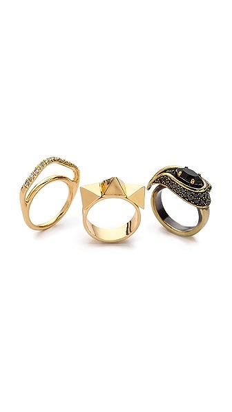 Iosselliani Stone Stacking Rings