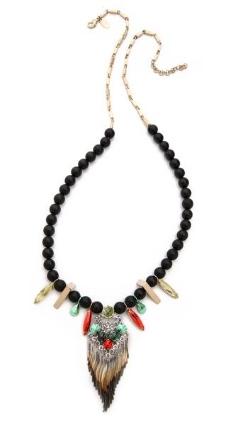 Iosselliani Long Central Pendant Necklace