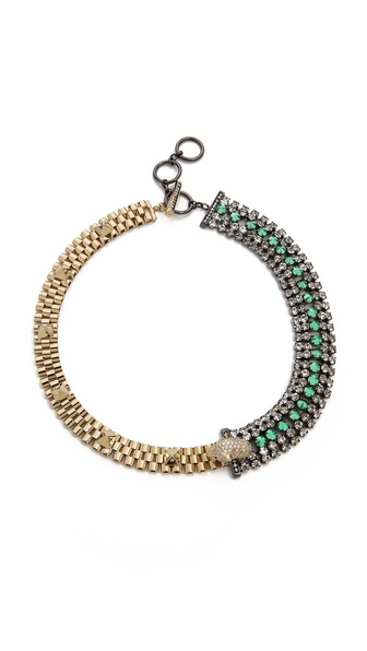 Iosselliani Bi Collar Diamante Necklace