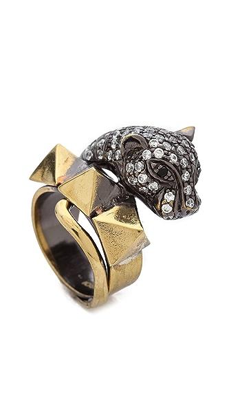 Iosselliani Cheetah Head Ring