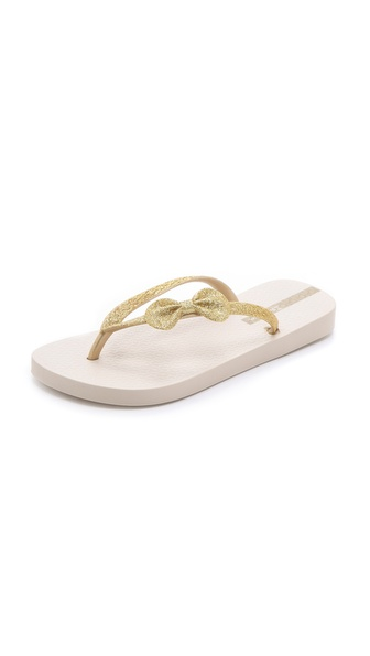 Ipanema Glitter Bow Flip Flops