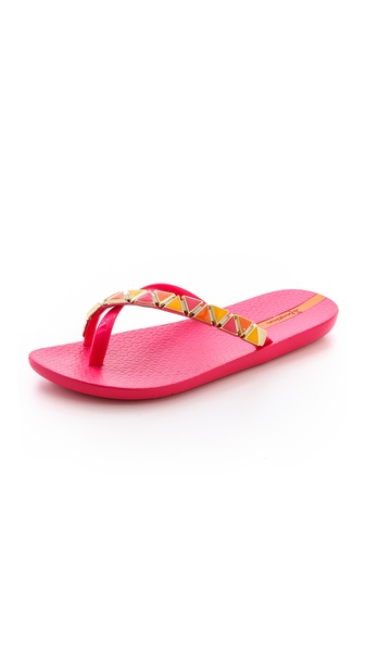 Ipanema Imperial Embellished Flip Flops - Pink/Orange