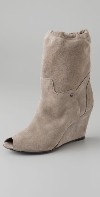 IRO Esser Suede Open Toe Slouch Booties